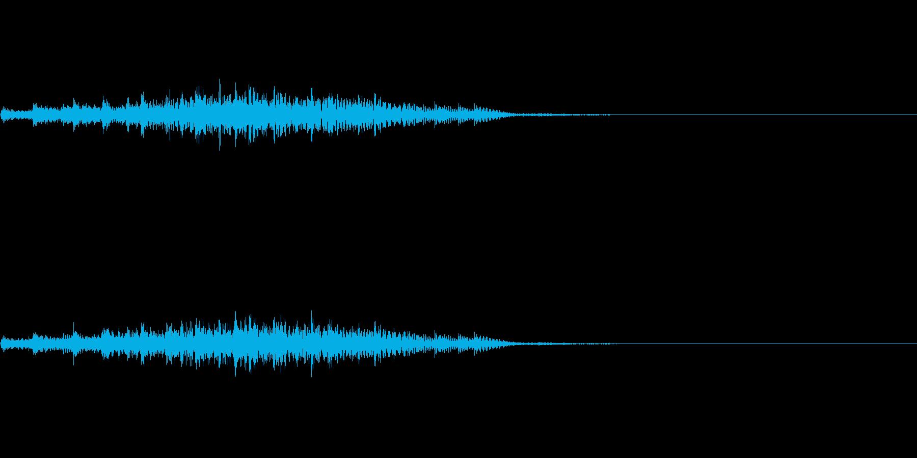 場面転換などに使える上昇系のかわいい音の再生済みの波形