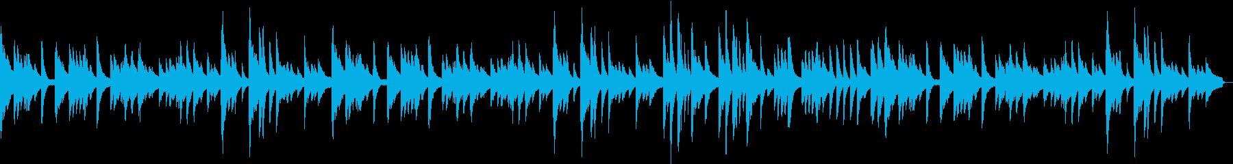 ゆっくりしたピアノ曲の再生済みの波形