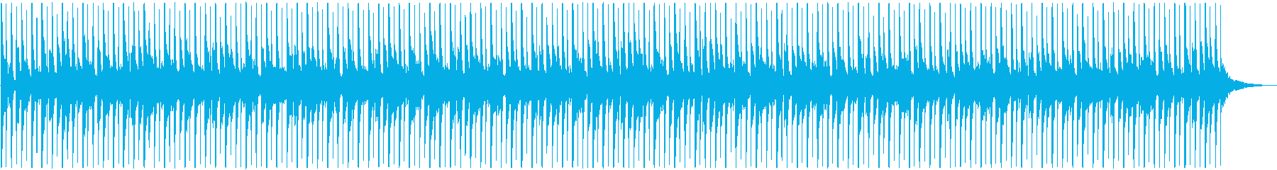 1分間のシンキングタイム向け楽曲の再生済みの波形