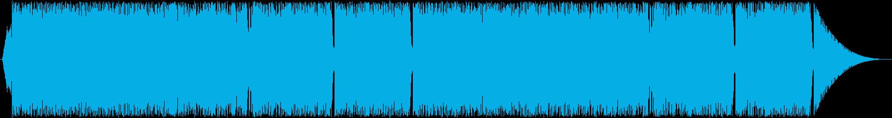 テクノ・トランス風ロックの再生済みの波形