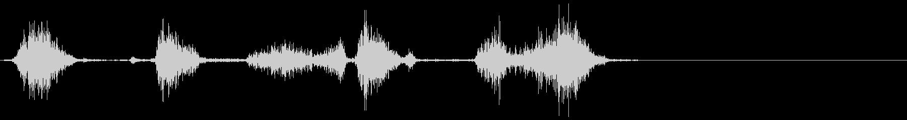マジックで書く・記入する音(低・短)の未再生の波形
