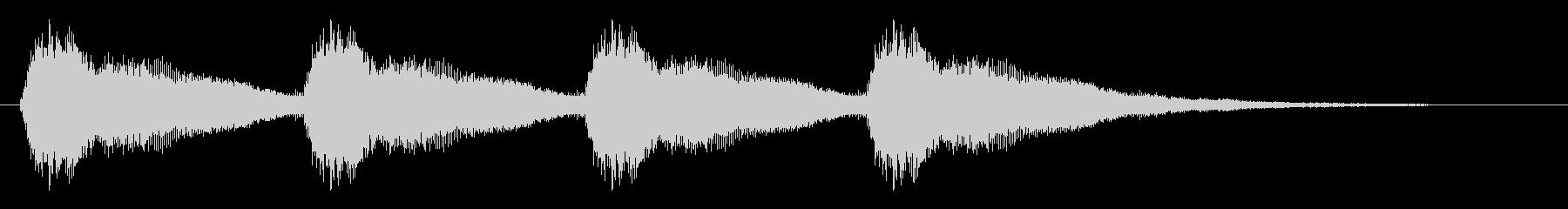 ブザーの音(四つ)の未再生の波形