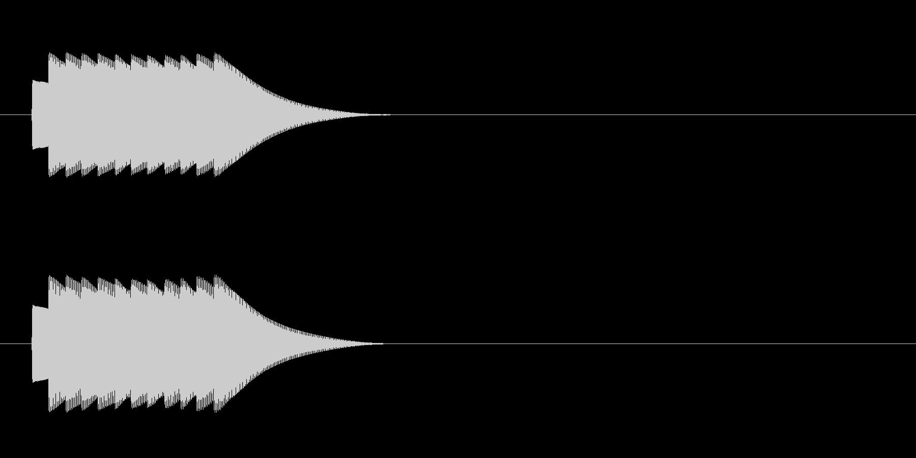 クイズの効果音 正解 ピンポン複数回の未再生の波形