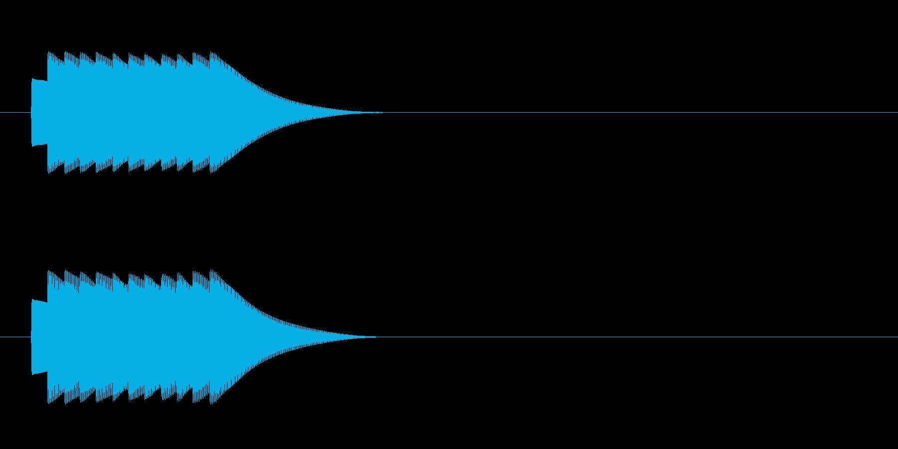 クイズの効果音 正解 ピンポン複数回の再生済みの波形