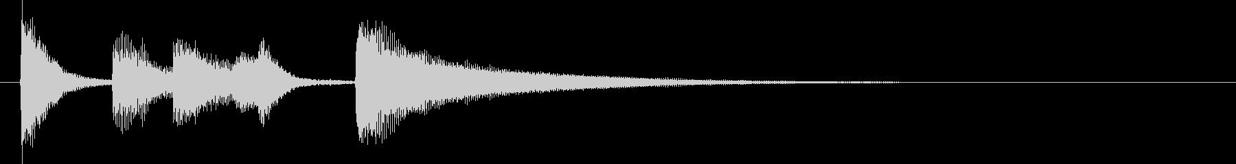 ロックンロール風ピアノのジンバルの未再生の波形