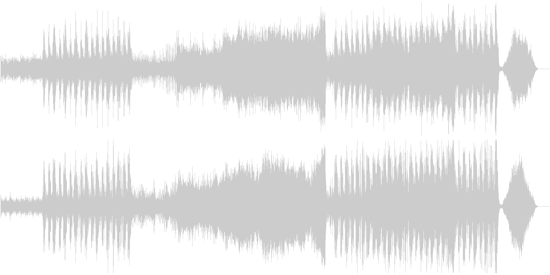 現代の交響曲 クラシック交響曲 広...の未再生の波形