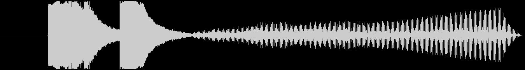 シンプルな5秒程度のジングルの未再生の波形