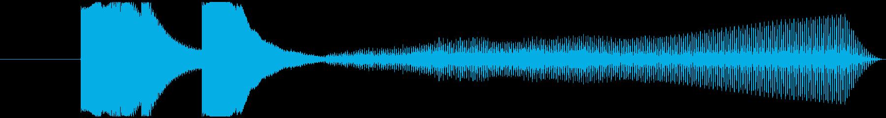 シンプルな5秒程度のジングルの再生済みの波形