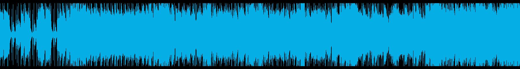 早く力強いギターロック(ループ用)の再生済みの波形