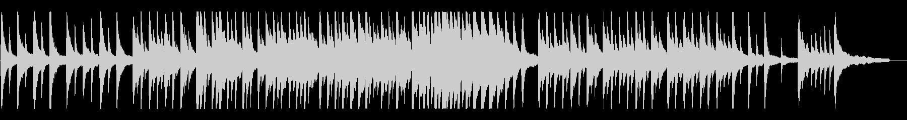 どこか遠く懐かしい~儚く温かいピアノソロの未再生の波形