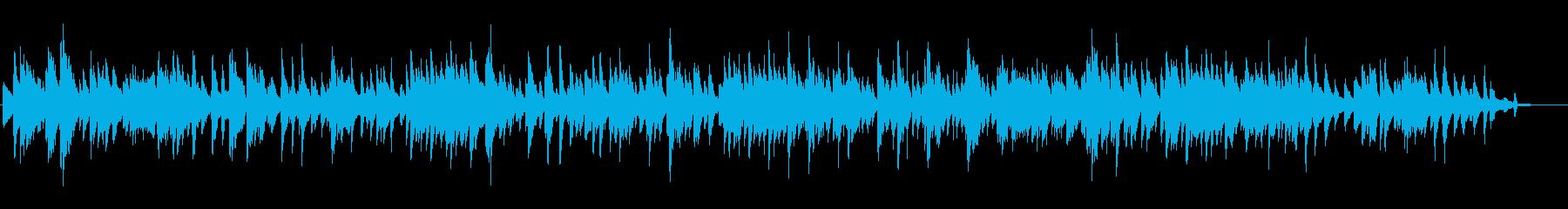 BARで流れる静かなJAZZバラードの再生済みの波形