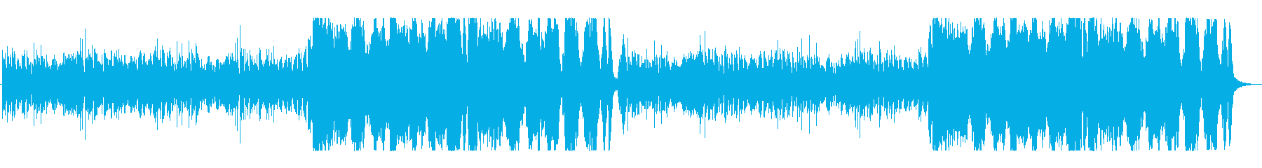 ゲーム音楽風(ダンジョンなど)の再生済みの波形