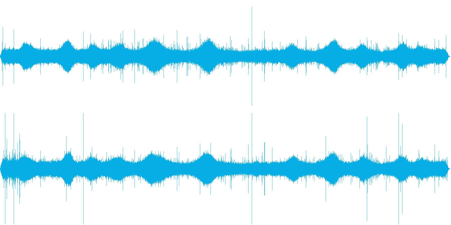 【生録音】朝の通勤時間帯 雨の音 1の再生済みの波形