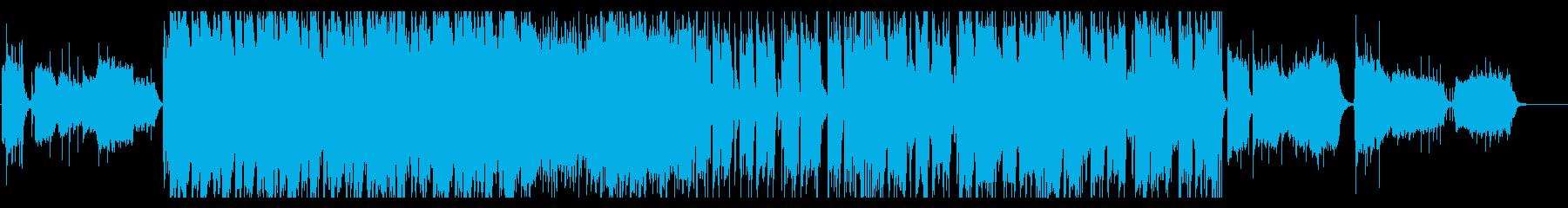 緊張感の高い雰囲気のBGMの再生済みの波形