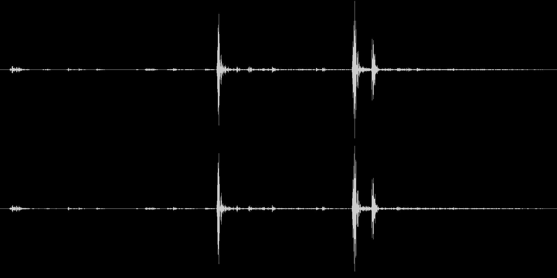 Anime 指の関節を鳴らす音 5の未再生の波形
