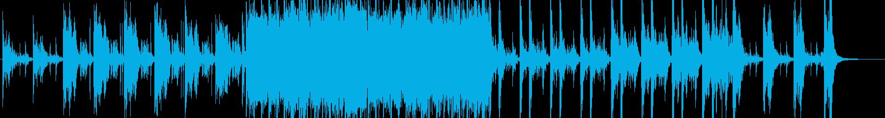 潜入をイメージした曲の再生済みの波形