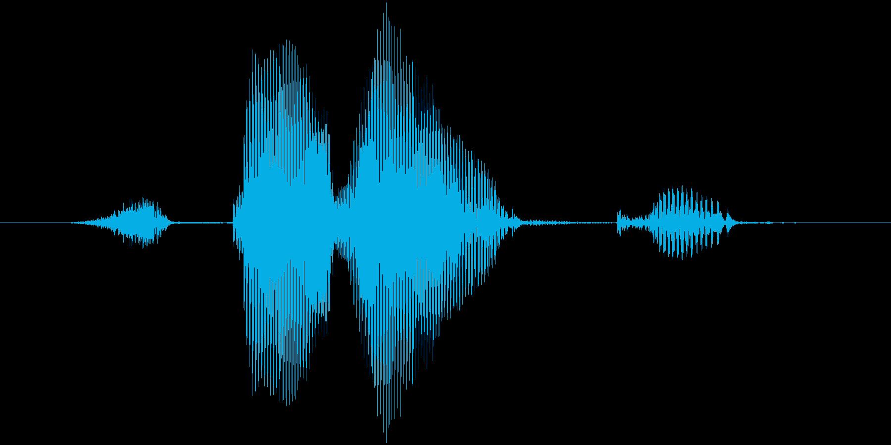 ストライク(低音)の再生済みの波形