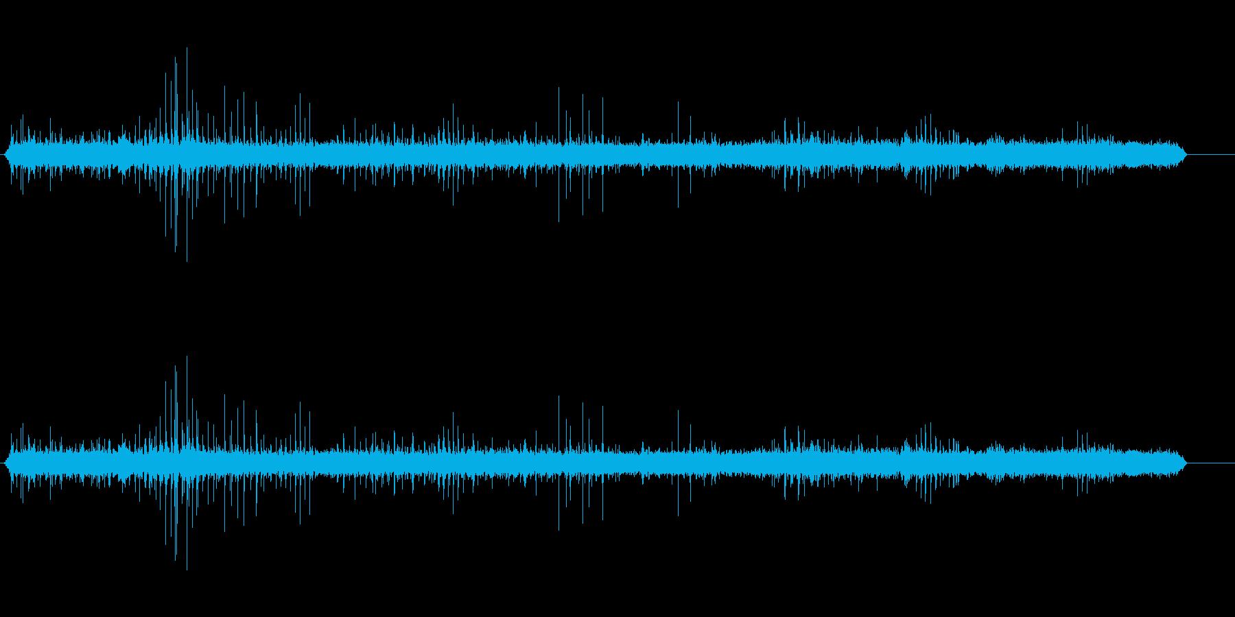 回転式プロペラ発電所の再生済みの波形