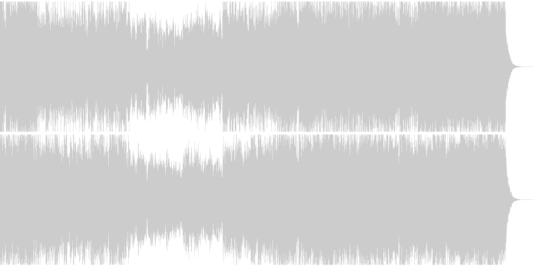 壮大な和風オーケストラの未再生の波形