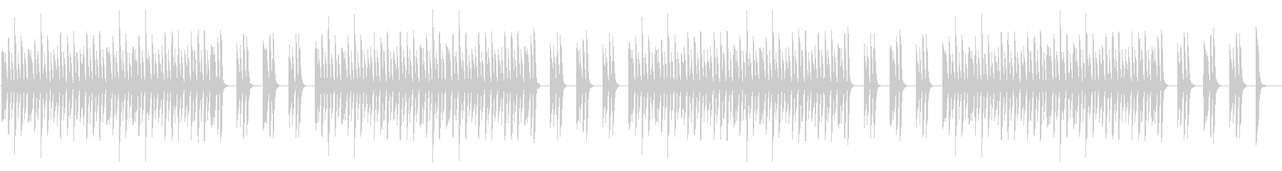 邪魔しないシンプルなピアノのみの未再生の波形