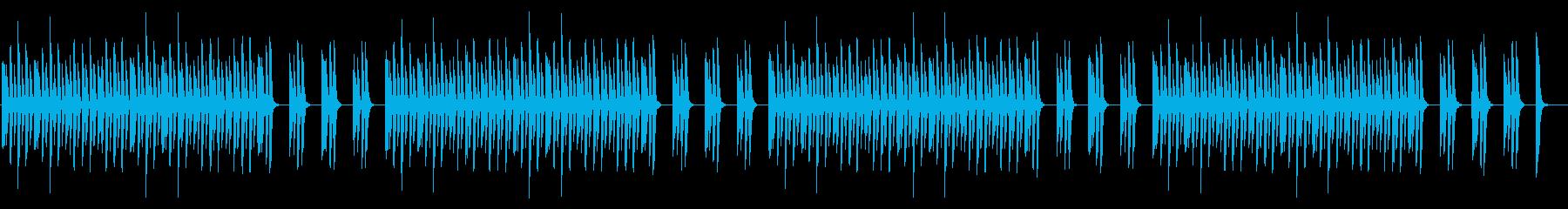 邪魔しないシンプルなピアノのみの再生済みの波形