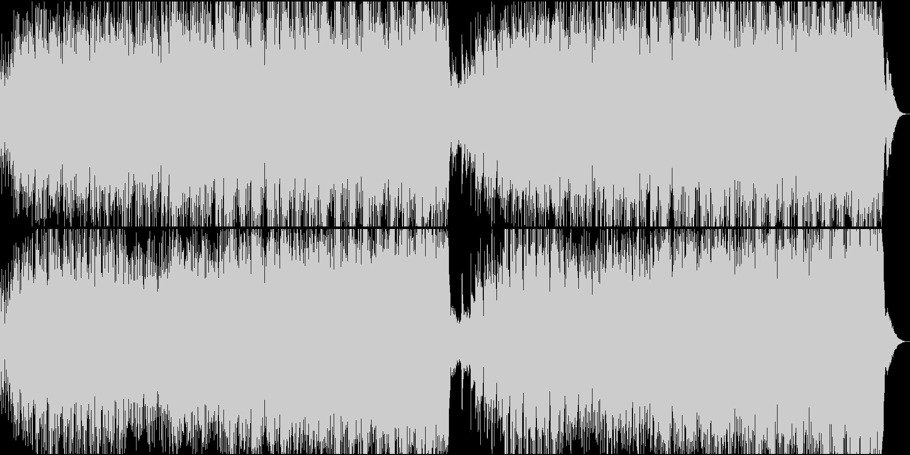 美しいメロディーのピアノハウスの未再生の波形