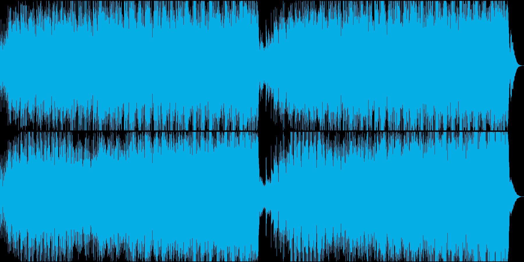 美しいメロディーのピアノハウスの再生済みの波形