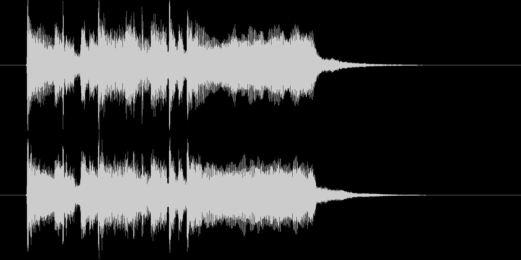 爽やかなトランペットとドラムによるBGMの未再生の波形