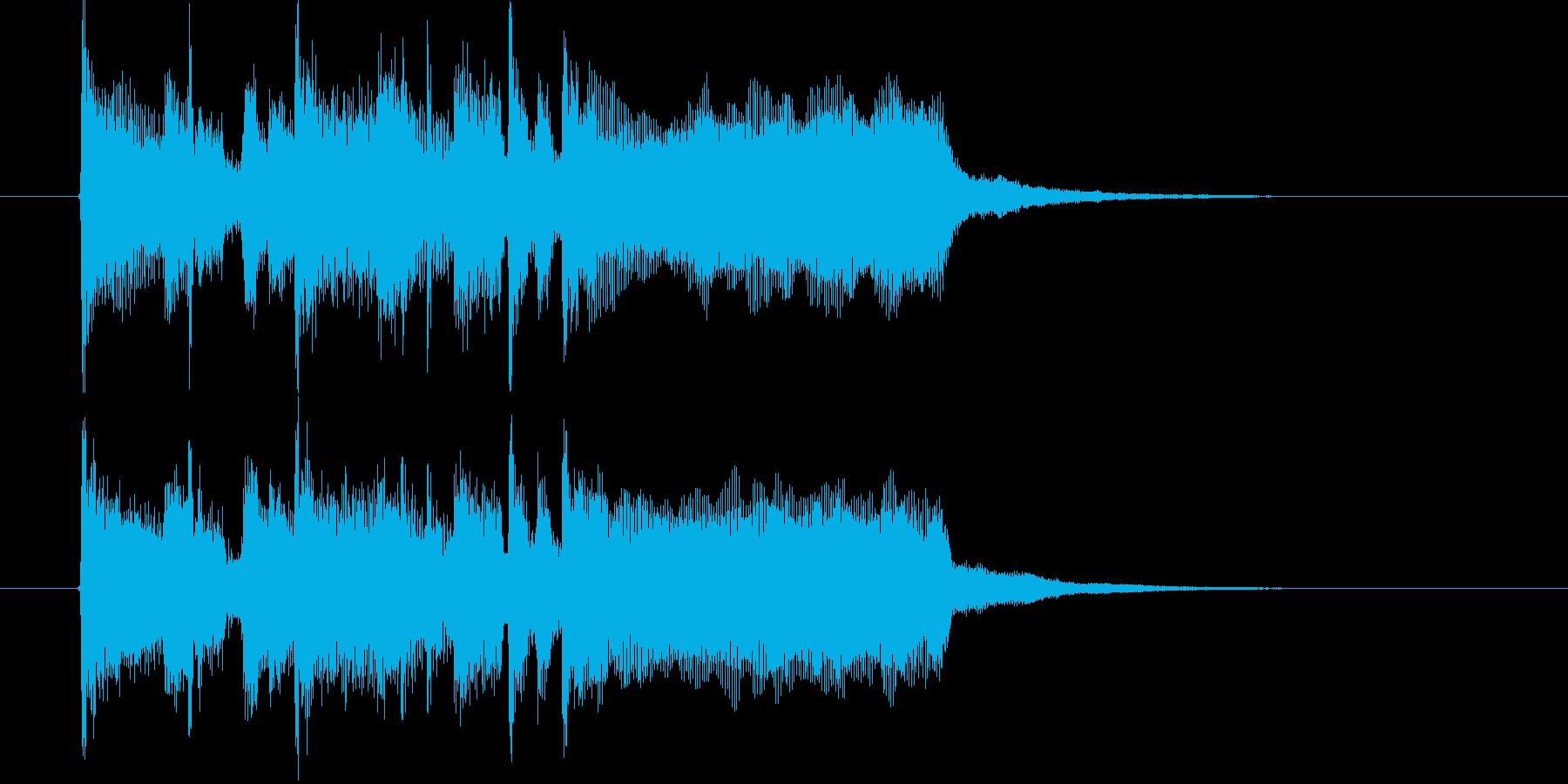 爽やかなトランペットとドラムによるBGMの再生済みの波形
