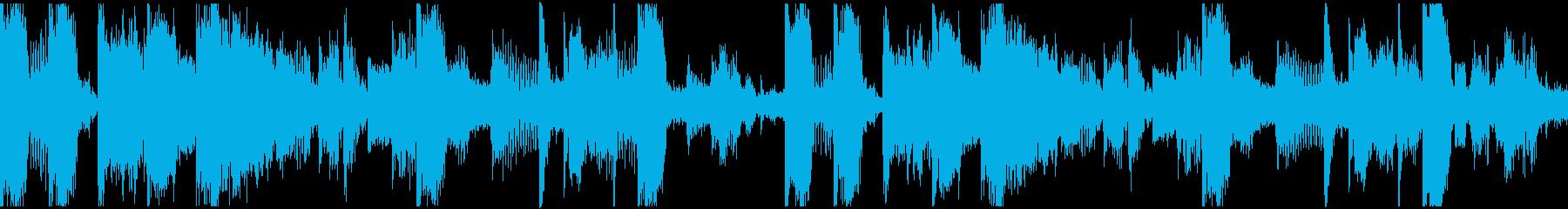 ループ。ガヤガヤ声素材。打ち込みシンセ風の再生済みの波形