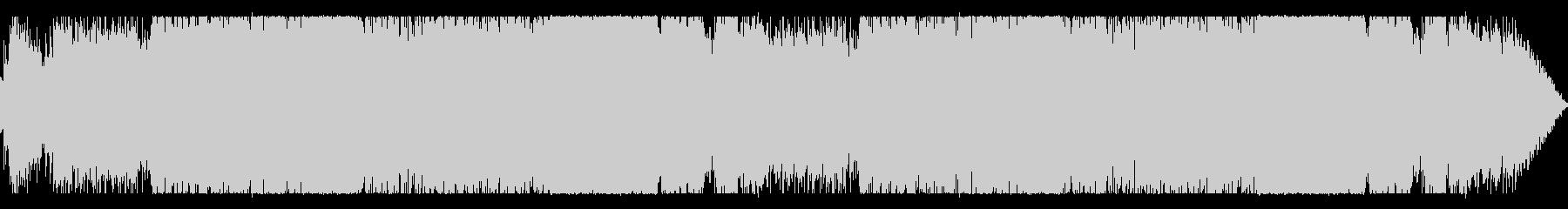 シンセサイザーとエレキギターの戦闘BGMの未再生の波形