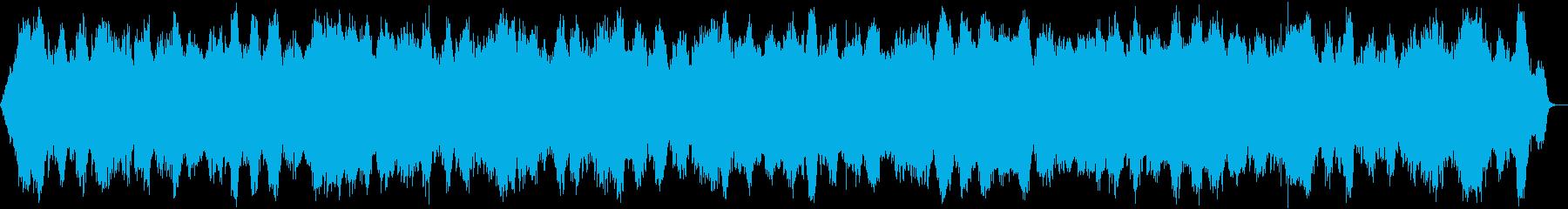 ヨガ、マインドフルネスに適した瞑想音楽の再生済みの波形