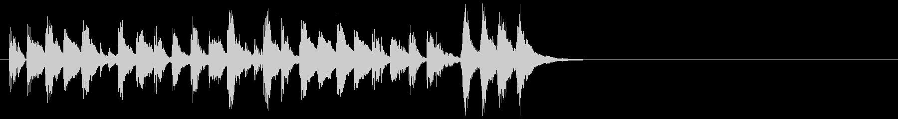 ラテン風のサウンドロゴ(最後のSEなし)の未再生の波形