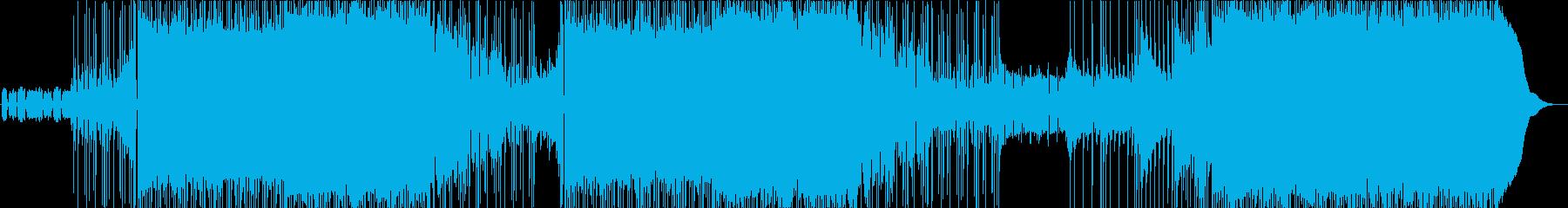 テンションの上がるグランジオルタナロックの再生済みの波形