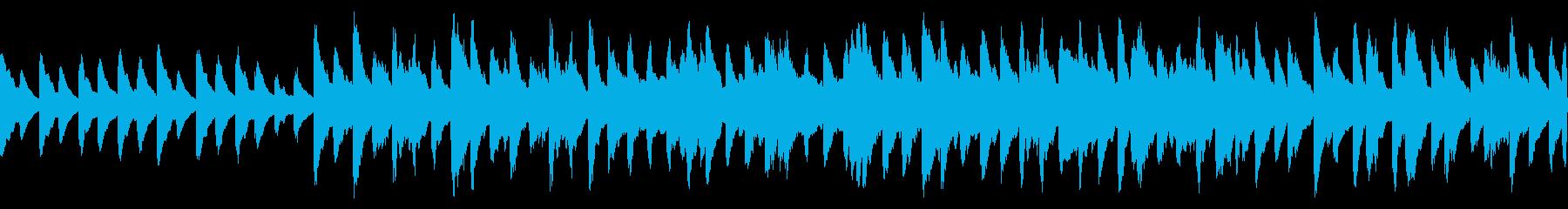 残響感のあるバラード曲(ループ仕様)の再生済みの波形