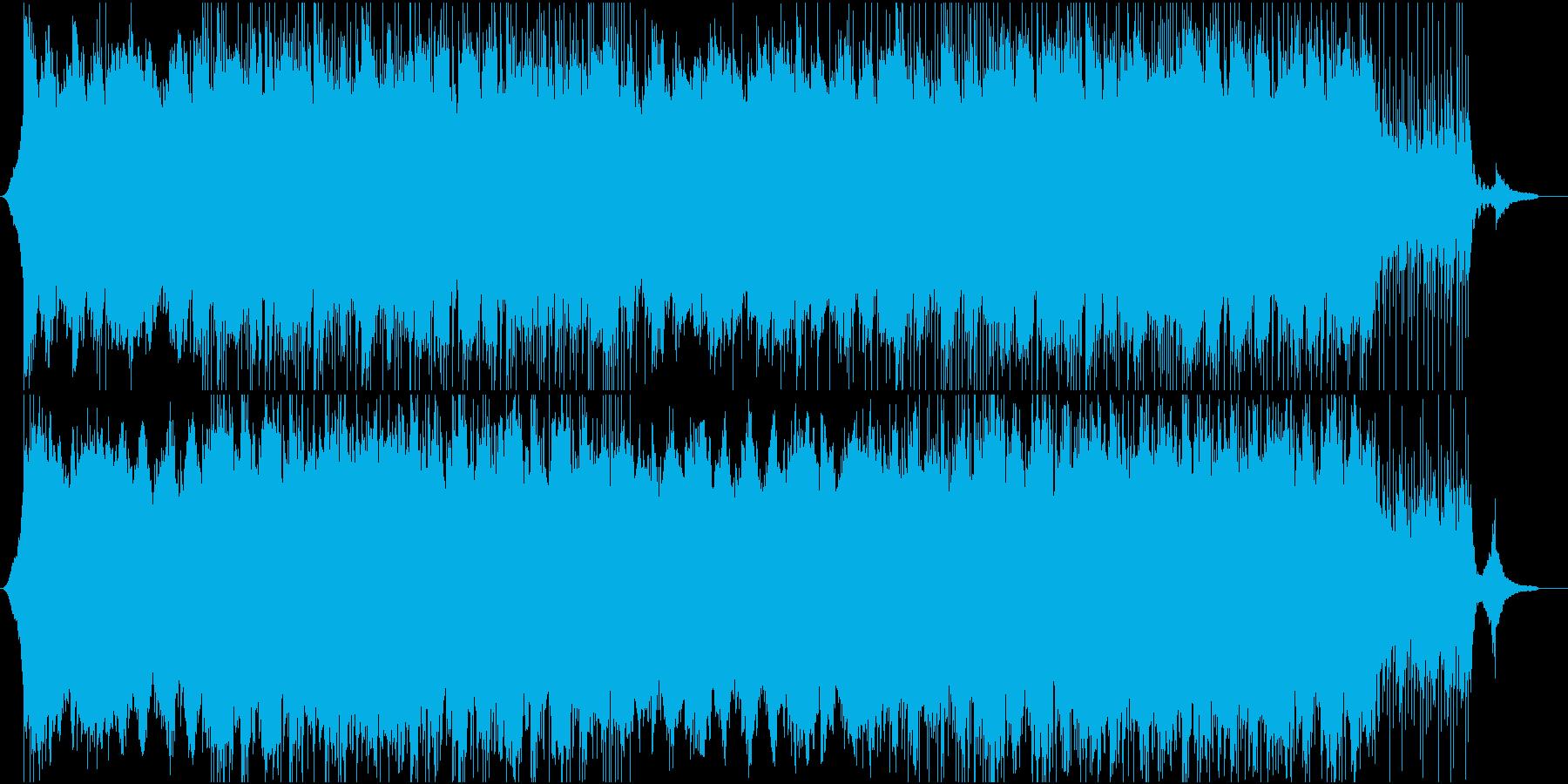 CMや企業紹介映像向けコーポレート系楽曲の再生済みの波形