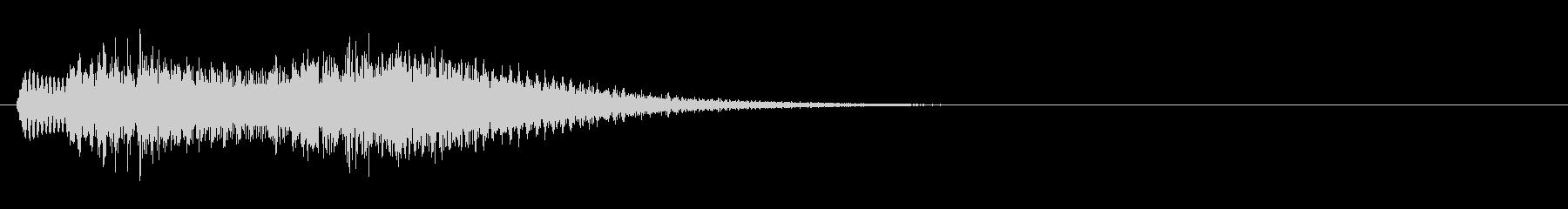 ゲームなどの決定音に使える シャラン音の未再生の波形