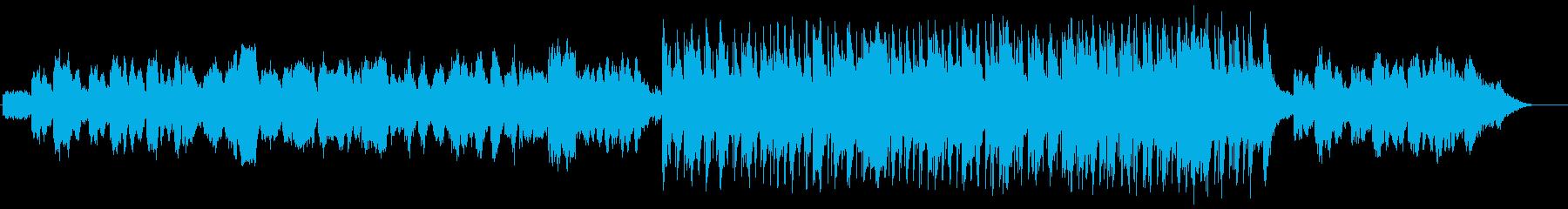 落ち着いたアコースティックの再生済みの波形