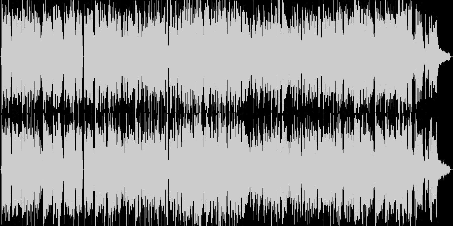 ほのぼのとしたピアノトリオのポップスの未再生の波形