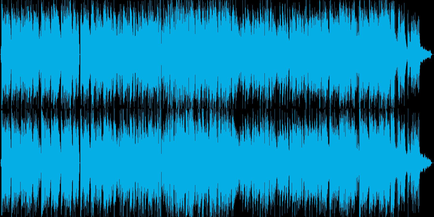 ほのぼのとしたピアノトリオのポップスの再生済みの波形