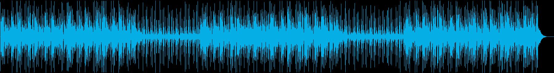 素朴でゆったりしたハワイ風BGMの再生済みの波形