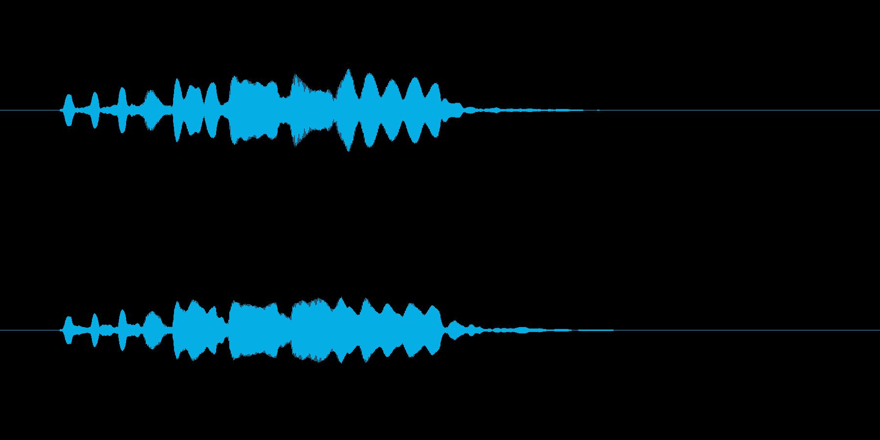 澄み切った空気、フルートのメロディーの再生済みの波形
