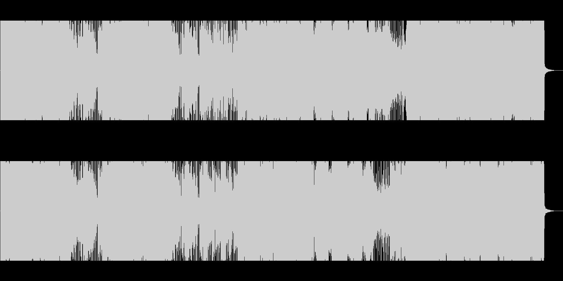 熱くアグレッシブなロックの未再生の波形