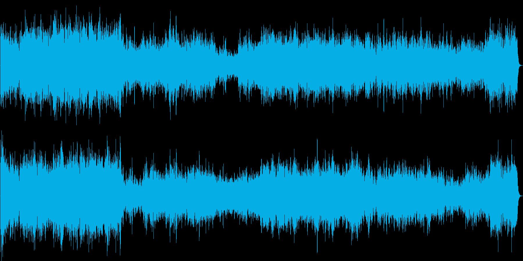 ピアノ2台の豪華な曲・1楽章(バッハ)の再生済みの波形