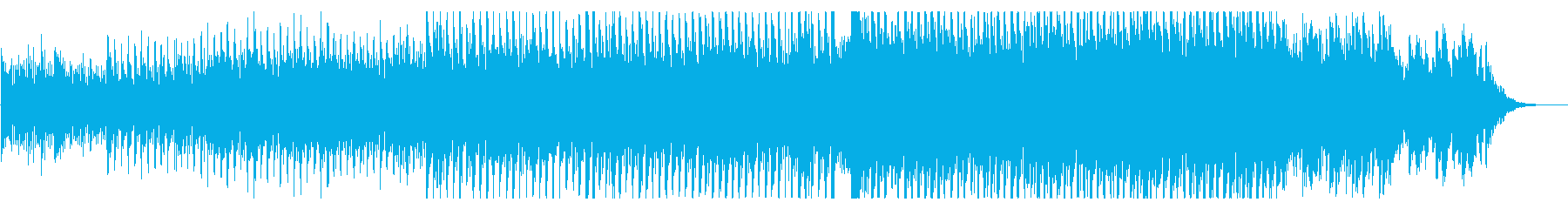 不穏な雰囲気の4つ打ちダンスインストの再生済みの波形