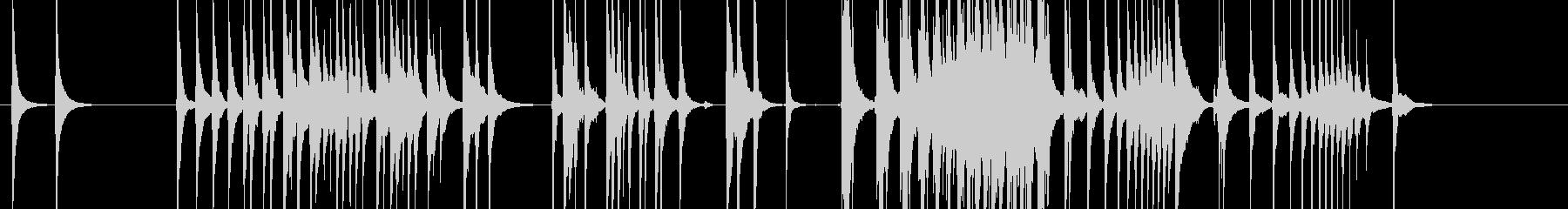 三味線110連獅子3虎豹歌舞伎生音和風親の未再生の波形