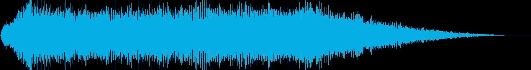 アニメで何かが誕生する?神々しい音の再生済みの波形