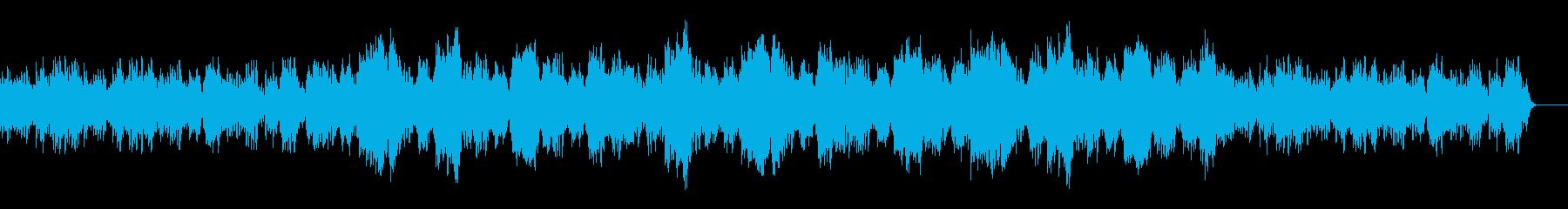ゆったりとした和風な曲の再生済みの波形