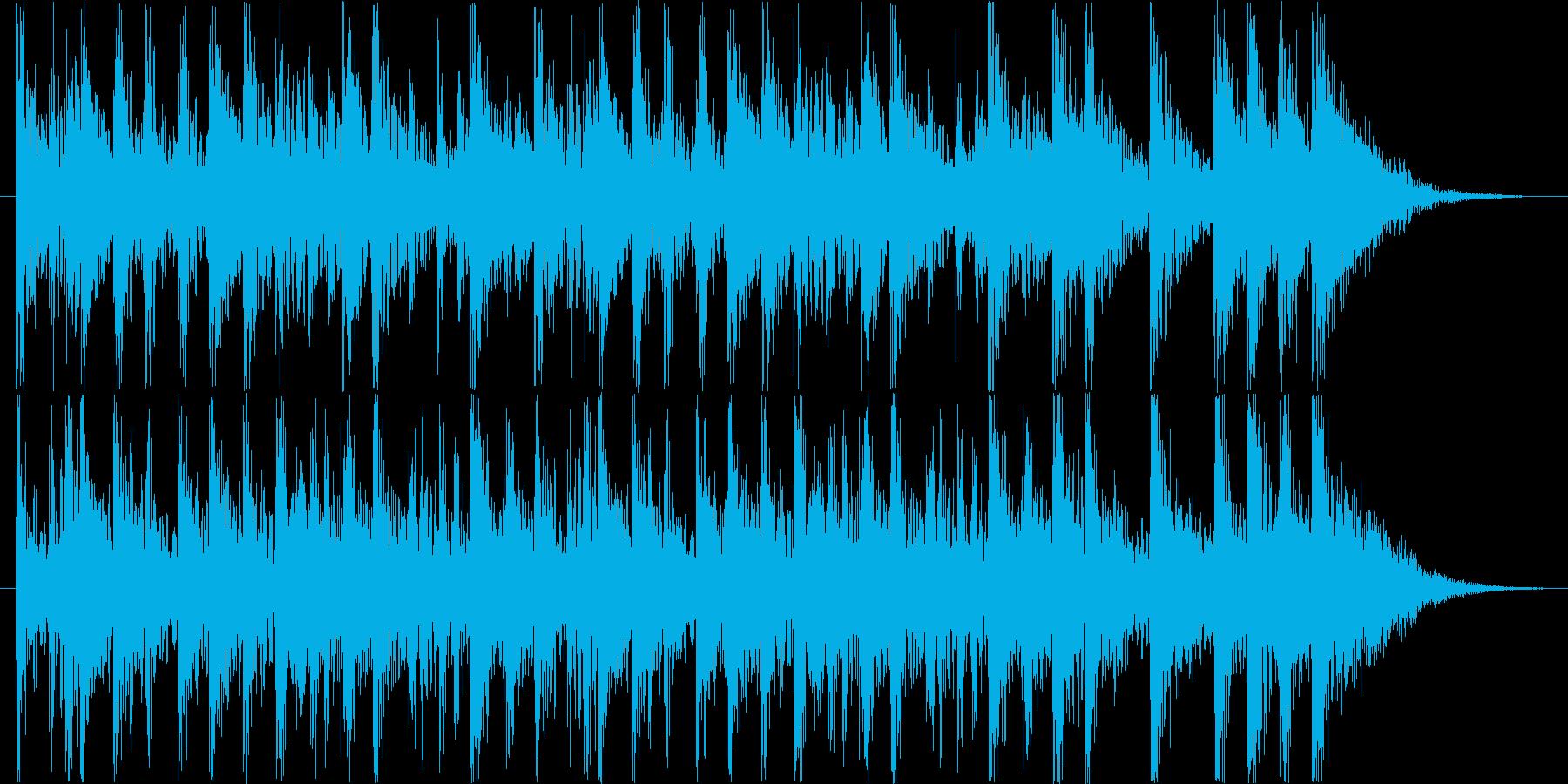 足を踏み鳴らし手を叩くダイナミックなロゴの再生済みの波形