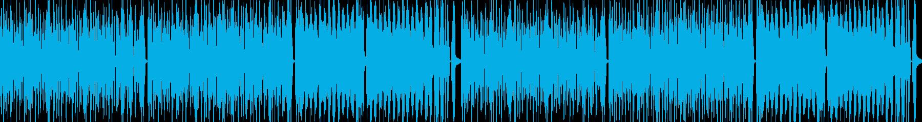 シンセリードのポップで明るいループ曲の再生済みの波形
